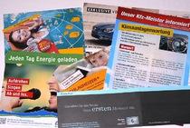 Werbedruck, Postkarten, Flyer, Folder, Broschüren, Mappen, Kataloge, Kanlender